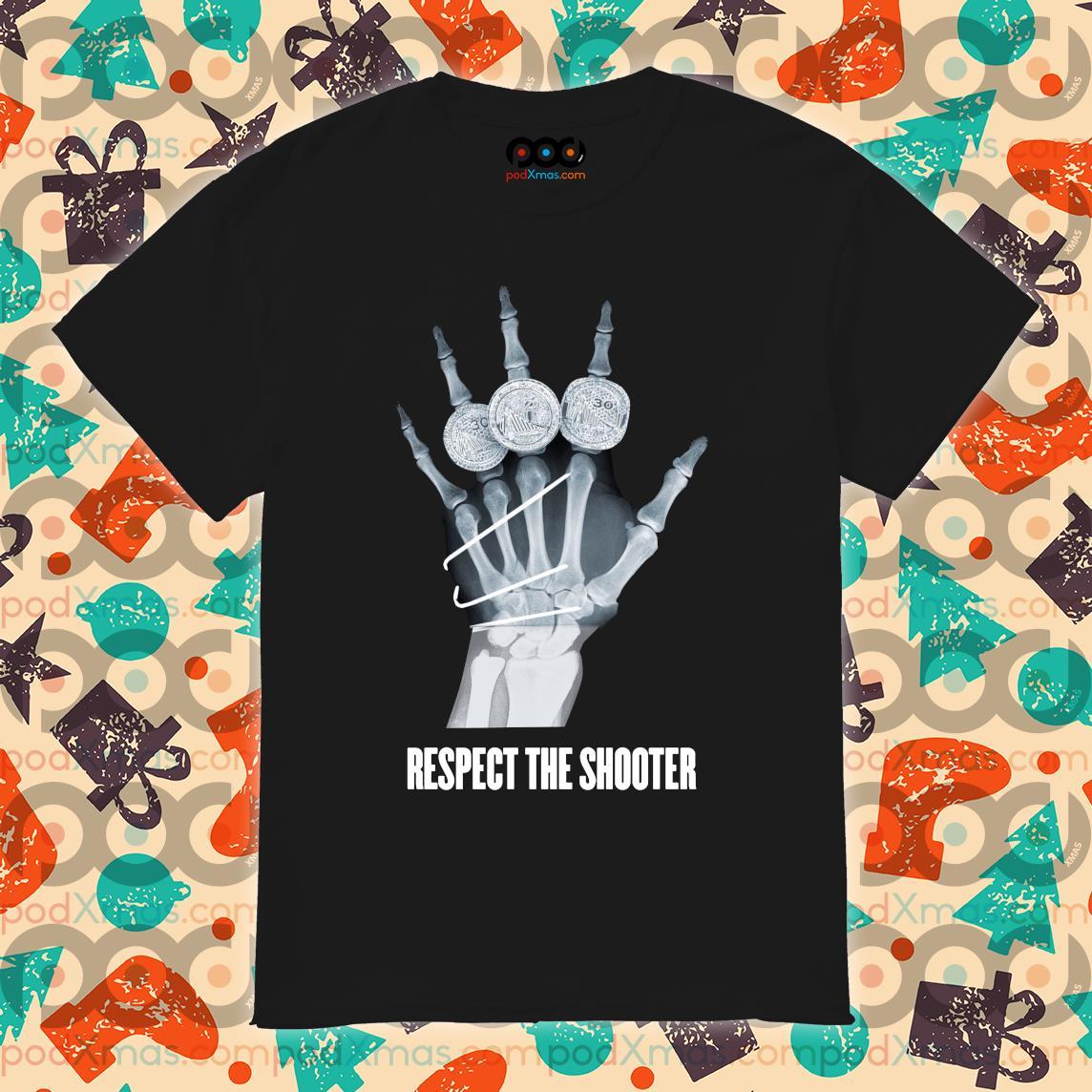 Warriors Stephen Curry broken hand xray respect the shooter shirt