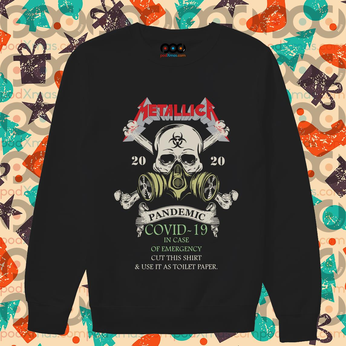 Metallica 2020 Pandemic Covid-19 in case of emergency sweater