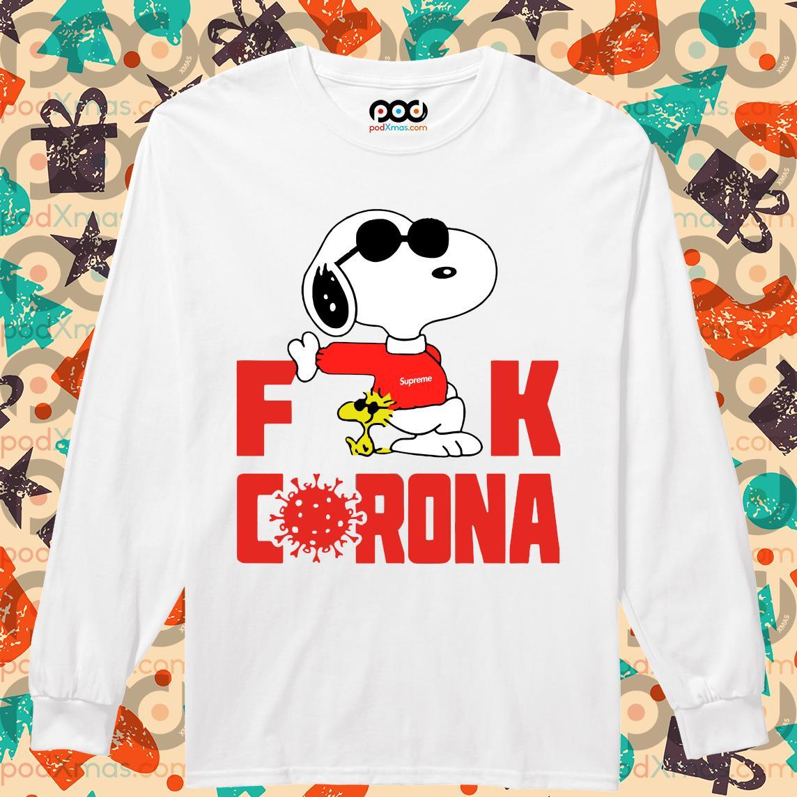 Snoopy Fuck Corona s Longsleeved PODxmas trang