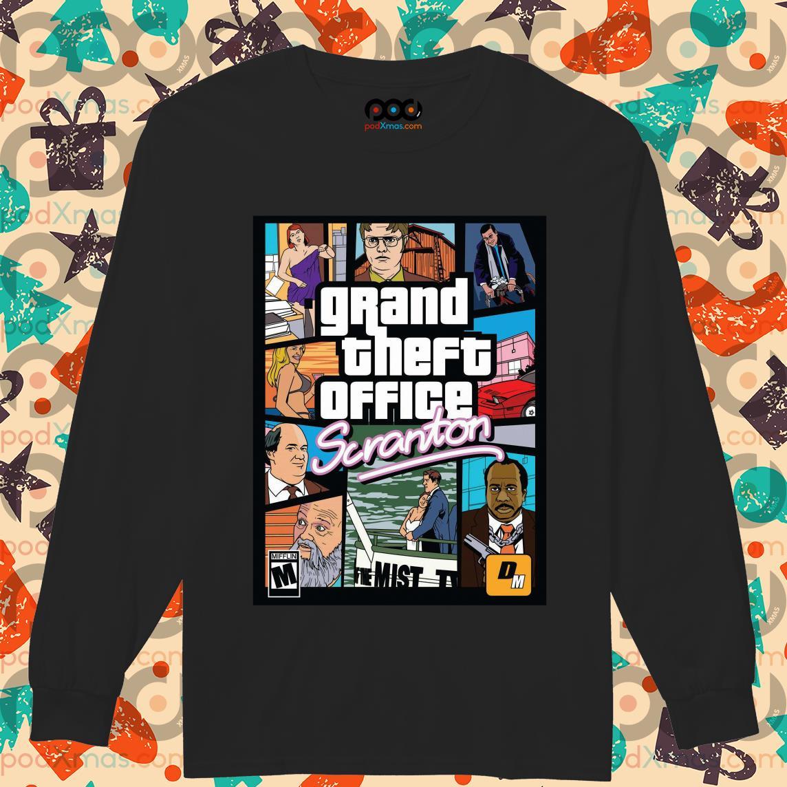 (Fast Shipping) Grand Theft Office Scranton Poster Shirt