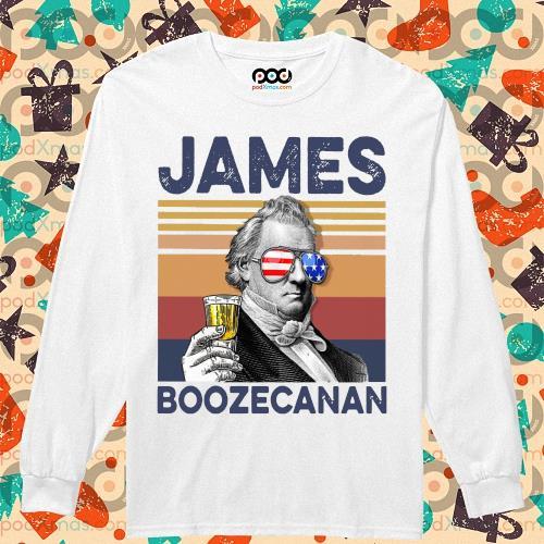 James Buchanan Boozecan Drink Drink 4th of July vintage T-s longsleeved