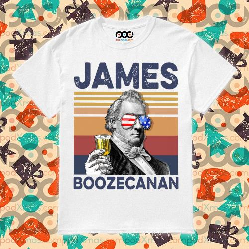 James Buchanan Boozecan Drink Drink 4th of July vintage T-shirt
