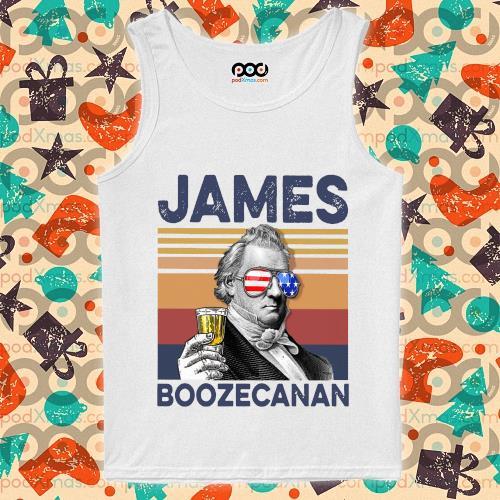 James Buchanan Boozecan Drink Drink 4th of July vintage T-s tank-top