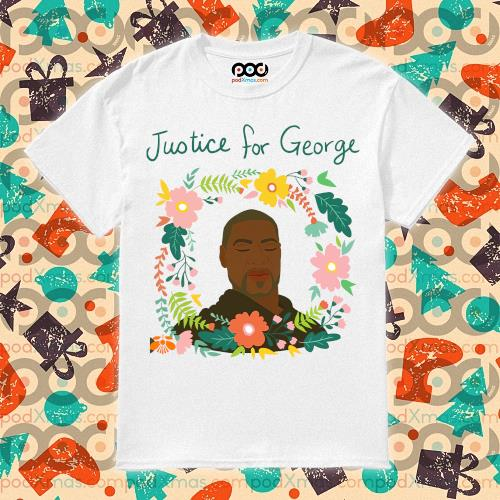 Justice for George Floyd flower t-shirt