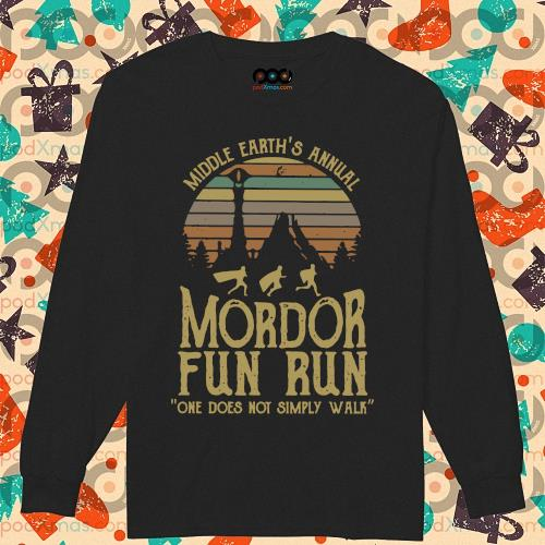 Middle earth's annual Mordor fun run one does not simply walk s longsleeved
