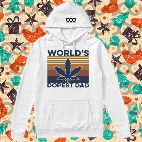 World's Dopest Dad Weed Vintage s hoodie
