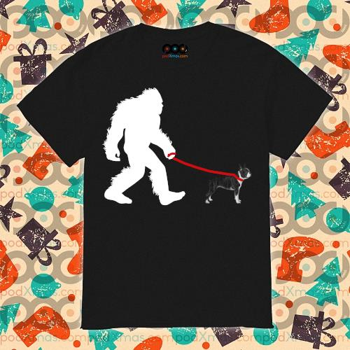 Bigfoot French Bulldog walking shirt