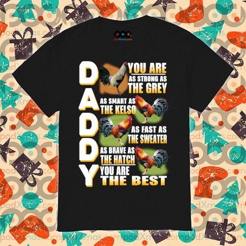 Daddy you are as strong as the grey as smart as the kelso shirt