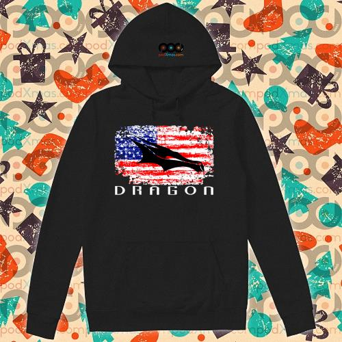 Dragon Space American Flag vintage s hoodie