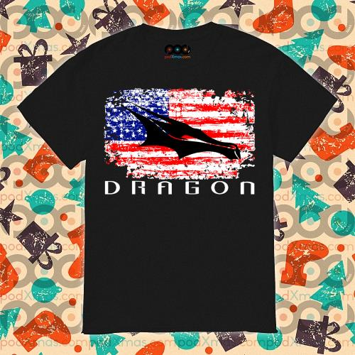 Dragon Space American Flag vintage shirt