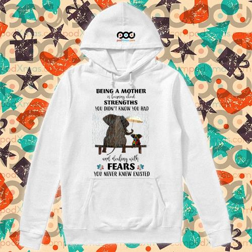 Elephant Being a mother strengths Autism s hoodie