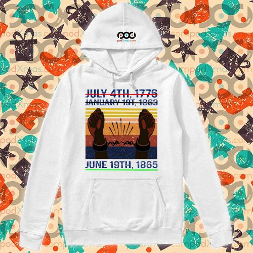 June 19th 1865 Juneteenth s hoodie