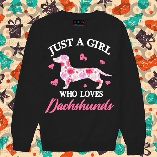 Just a girtl who loes Dachshund s sweater