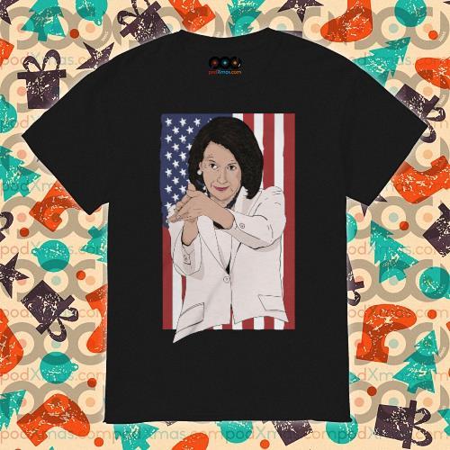 Nancy Pelosi clap anti Trump American flag shirt