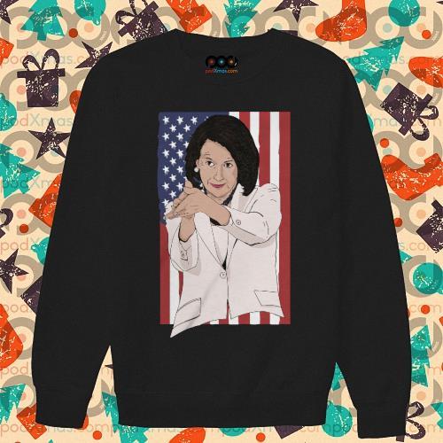 Nancy Pelosi clap anti Trump American flag s sweater