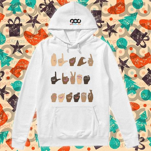 Sign language Black Lives Matter s hoodie