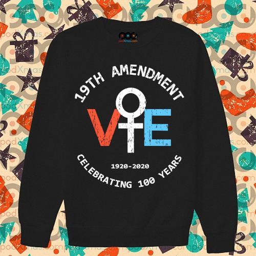 19th amendment 1920-2020 celebrating 100 years s sweater