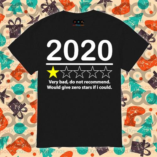2020 very bad would not recommend would give zero stars if I could shirt