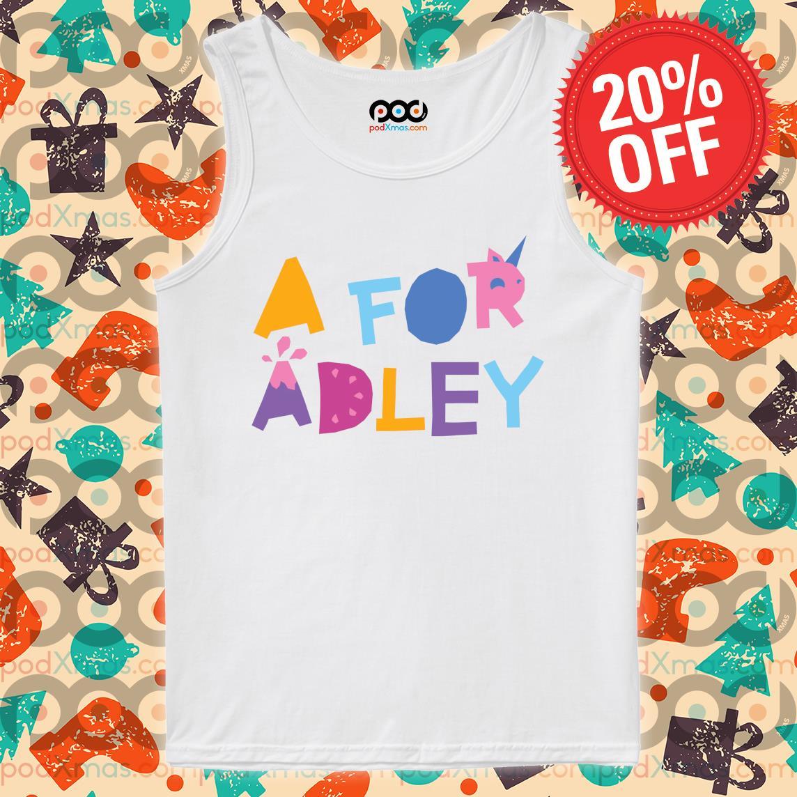 A for Adley s Tank top PODxmas trang