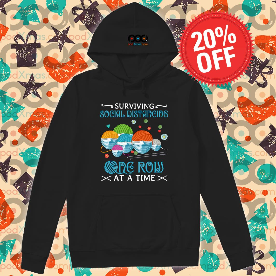 Quilting Surviving social distancing one row at a time s Hoodie PODxmas den