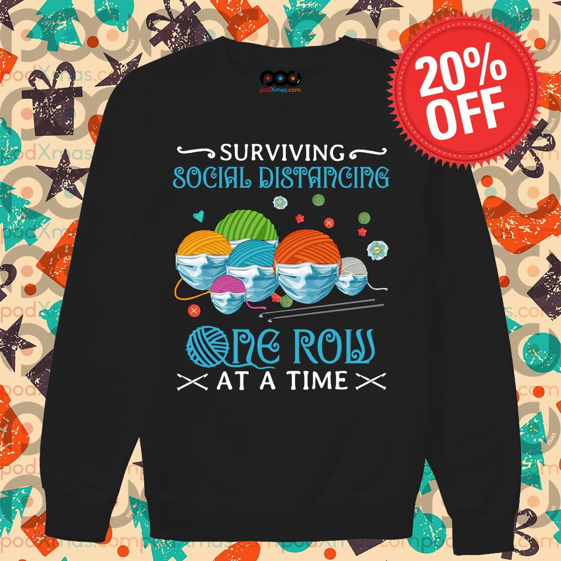 Quilting Surviving social distancing one row at a time s Sweater PODxmas den