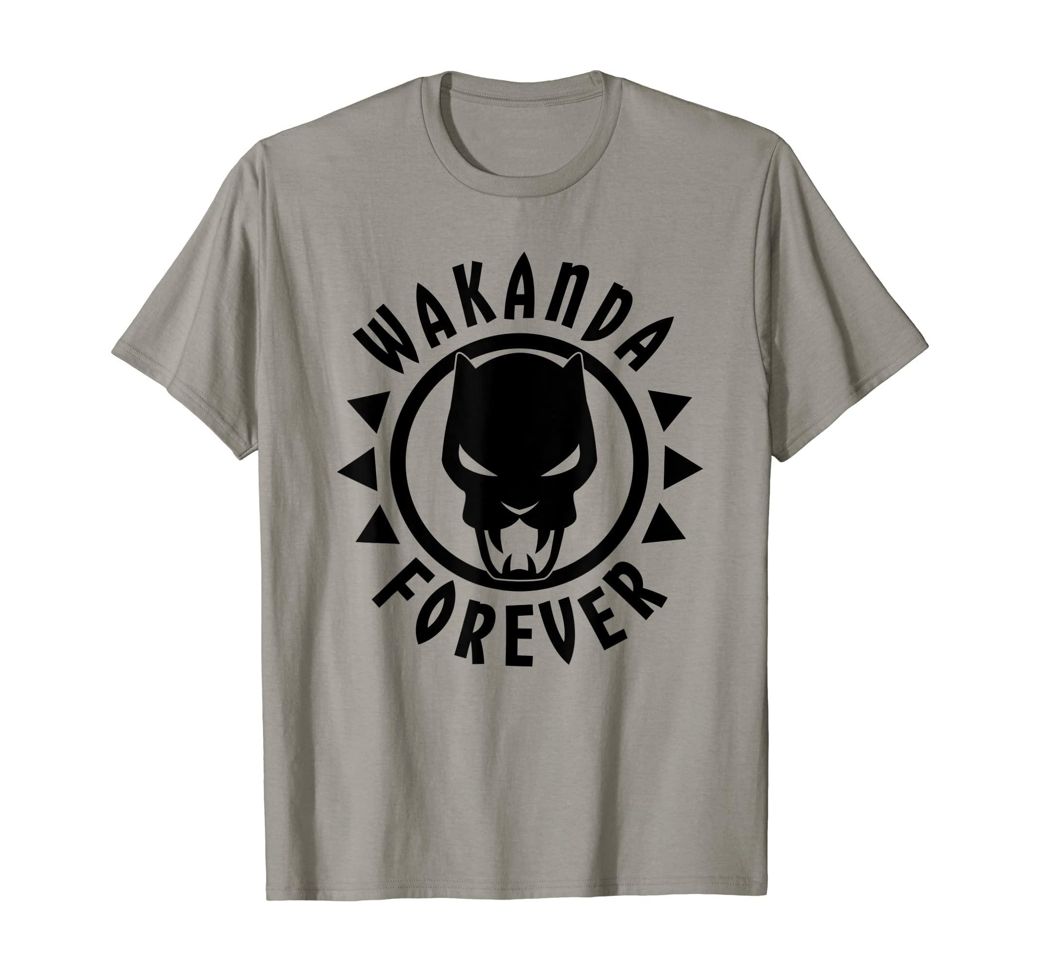 Marvel Black Panther Icon Wakanda Forever Circle T Shirt