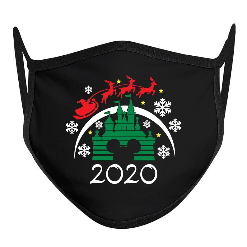 Disney 2020 Christmas Mask Disney Christmas Mask Disney Face Mask ADULT Disney Mask