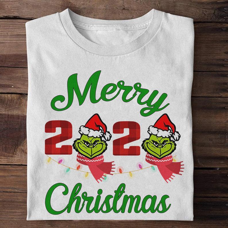 Merry 2020 Christmas Grinch Face Shirt