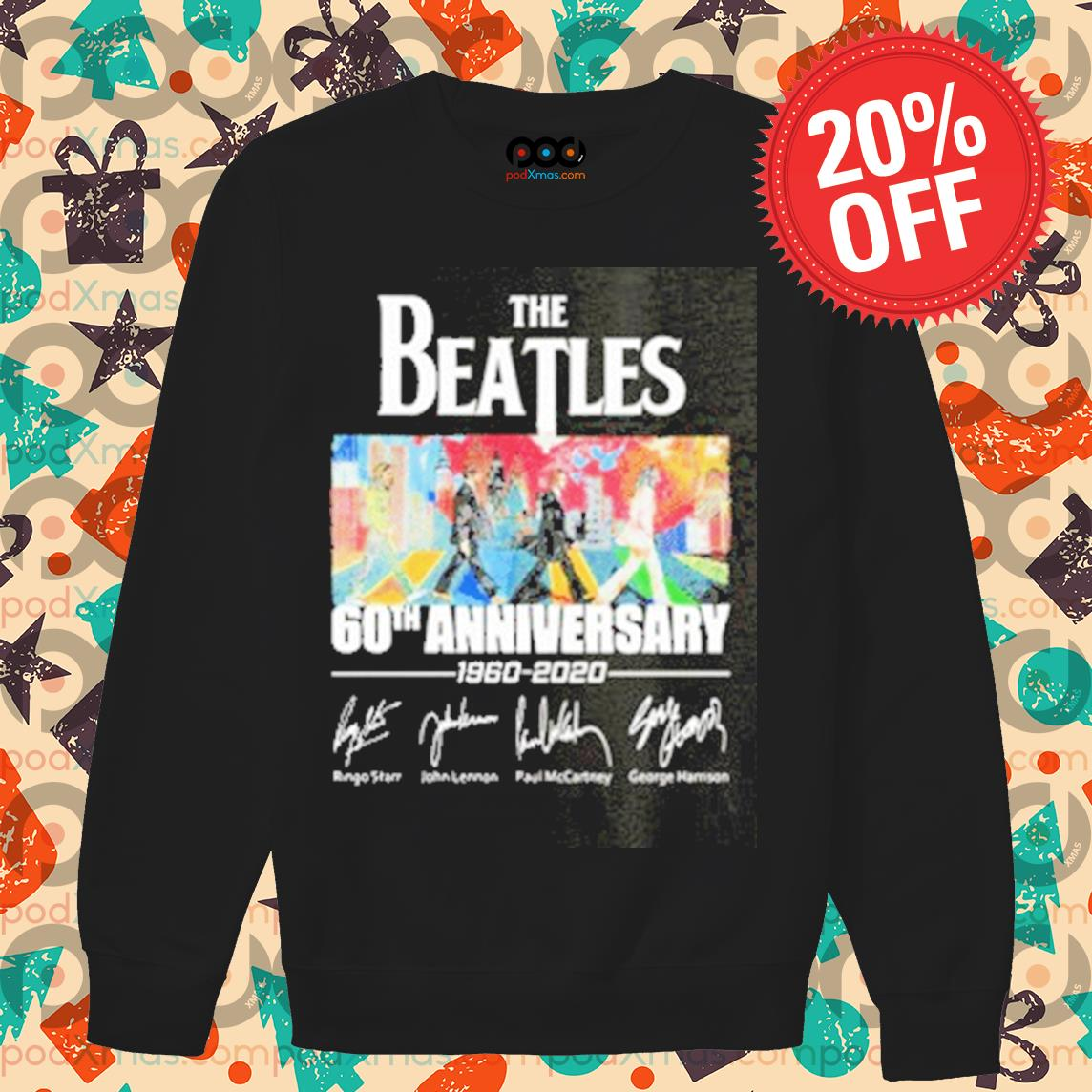 The Beatles Abbey Road 60th anniversary signatures s Sweater PODxmas den