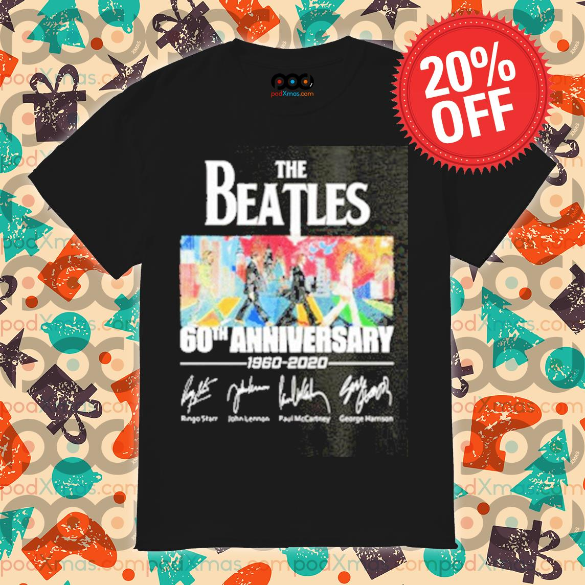 The Beatles Abbey Road 60th anniversary signatures shirt